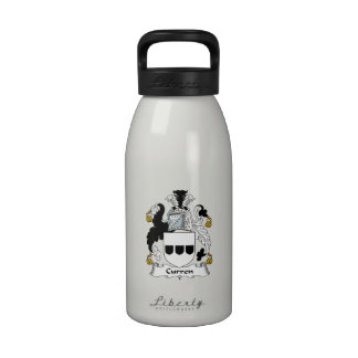 Escudo de la familia de Curren Botella De Agua Reutilizable