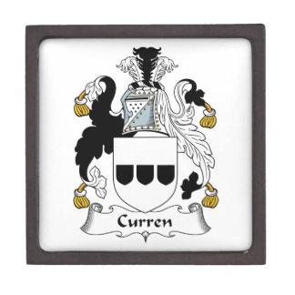 Escudo de la familia de Curren Caja De Recuerdo De Calidad