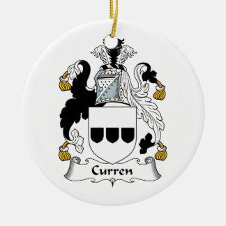 Escudo de la familia de Curren Ornamento De Navidad