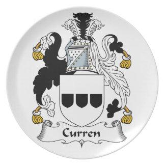 Escudo de la familia de Curren Platos De Comidas