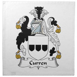 Escudo de la familia de Curren Servilleta Imprimida