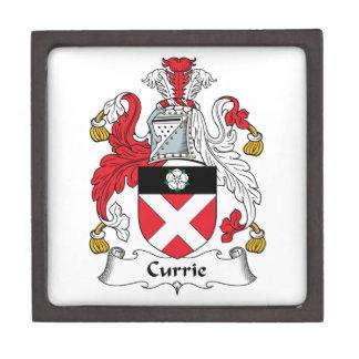 Escudo de la familia de Currie Cajas De Regalo De Calidad