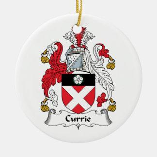 Escudo de la familia de Currie Adorno Redondo De Cerámica