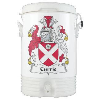Escudo de la familia de Currie Enfriador De Bebida Igloo
