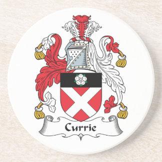 Escudo de la familia de Currie Posavasos Cerveza