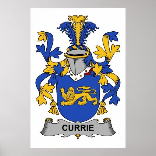 Escudo de la familia de Currie Póster