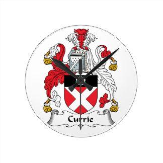 Escudo de la familia de Currie Reloj Redondo Mediano