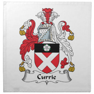 Escudo de la familia de Currie Servilletas Imprimidas