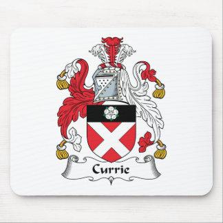 Escudo de la familia de Currie Alfombrillas De Raton