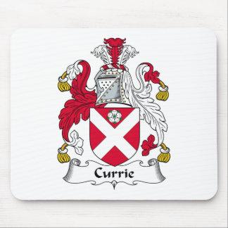 Escudo de la familia de Currie Tapetes De Raton