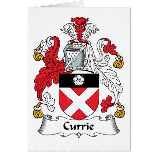 Escudo de la familia de Currie Tarjeta De Felicitación