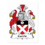 Escudo de la familia de Currie Tarjeta Postal