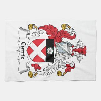 Escudo de la familia de Currie Toallas