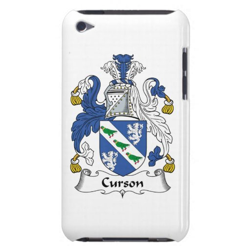 Escudo de la familia de Curson iPod Case-Mate Cobertura