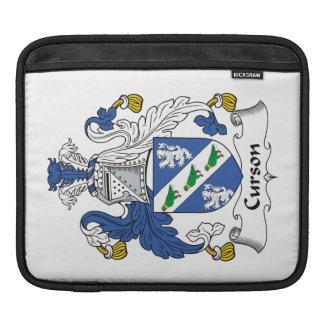 Escudo de la familia de Curson Funda Para iPads