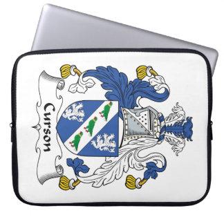 Escudo de la familia de Curson Fundas Portátiles