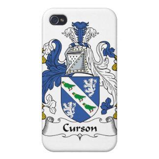 Escudo de la familia de Curson iPhone 4 Fundas
