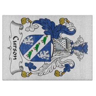 Escudo de la familia de Curson Tabla De Cortar