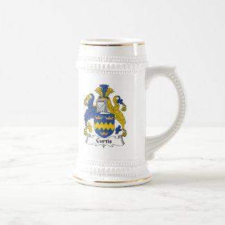 Escudo de la familia de Curtis Jarra De Cerveza