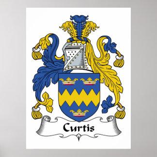 Escudo de la familia de Curtis Impresiones