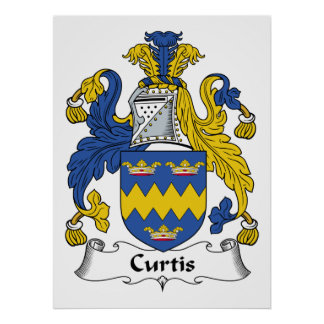 Escudo de la familia de Curtis Póster