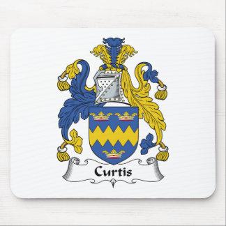 Escudo de la familia de Curtis Tapetes De Ratón
