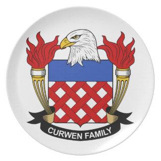 Escudo de la familia de Curwen Plato