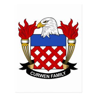 Escudo de la familia de Curwen Tarjetas Postales