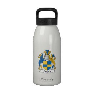Escudo de la familia de Cusack Botellas De Agua Reutilizables