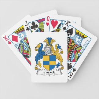 Escudo de la familia de Cusack Baraja Cartas De Poker