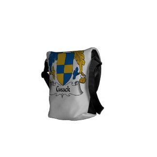 Escudo de la familia de Cusack Bolsa De Mensajería