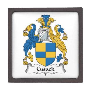 Escudo de la familia de Cusack Caja De Regalo De Calidad