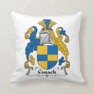 Escudo de la familia de Cusack Cojin