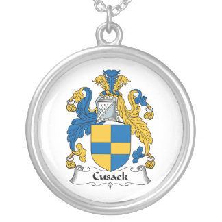 Escudo de la familia de Cusack Colgante Redondo