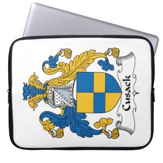 Escudo de la familia de Cusack Funda Ordendadores
