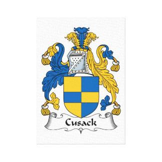 Escudo de la familia de Cusack Impresión En Tela