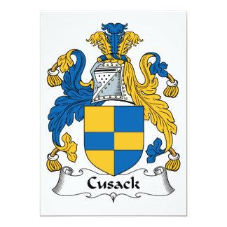 """Escudo de la familia de Cusack Invitación 5"""" X 7"""""""