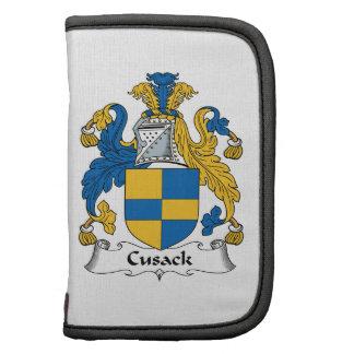 Escudo de la familia de Cusack Planificador