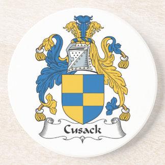 Escudo de la familia de Cusack Posavasos Manualidades
