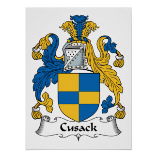 Escudo de la familia de Cusack Póster