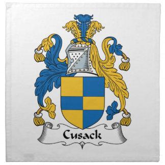 Escudo de la familia de Cusack Servilleta Imprimida