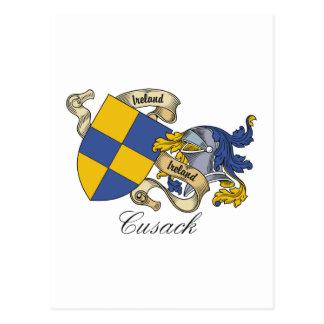 Escudo de la familia de Cusack Postales