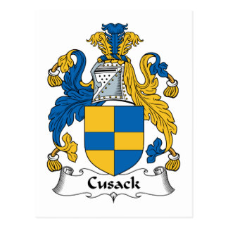 Escudo de la familia de Cusack Tarjetas Postales