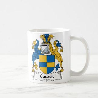 Escudo de la familia de Cusack Tazas De Café