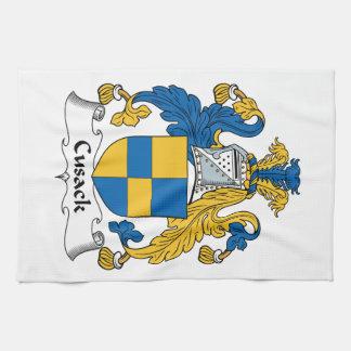 Escudo de la familia de Cusack Toallas De Mano