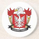 Escudo de la familia de Cushing Posavasos Cerveza