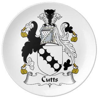 Escudo de la familia de Cutts Platos De Cerámica