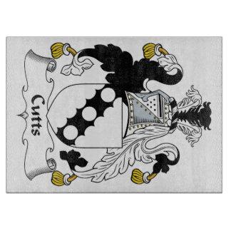Escudo de la familia de Cutts Tabla De Cortar