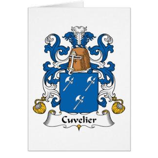Escudo de la familia de Cuvelier Tarjetas