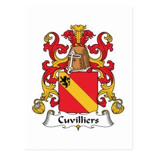 Escudo de la familia de Cuvilliers Tarjetas Postales